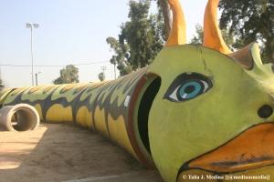 bomb shelter on a children's playground in Sderot.