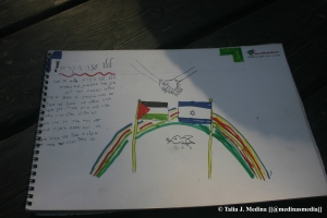a child's hope for peace between Israel and Gaza